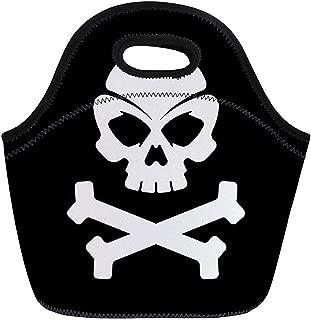 Caja De Térmicas,Crossbones Pirate Skull Bones Negros Brain Collection Dados De La Muerte Bolsas De Refrigerador Reutilizables Bolso De Picnic Térmico Aislado Para Viajes, Escuela, Aire Libre, Tr