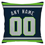 Material: 100% Polyester, Front and back bring a nice look by exceptional workmanship. Machine Wash Cold.looking! Personalized Pillow Cover : Your Name and Numbers are Printed on Throw Pillow Covers. No Chance of Cracking, Fading, or Peeling. Hidden ...