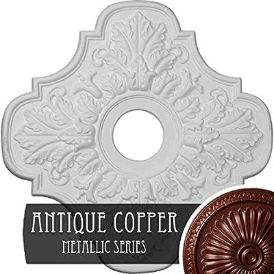 Ekena Millwork CM17PEACS Peralta Ceiling Medallion, Antique Copper