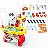 ZYHA Kids Caja Herramientas Juguete,Kid Power Construction Work Shop Juego de Juego Juguete con Taladro de Herramientas de Bricolaje para niños pequeños