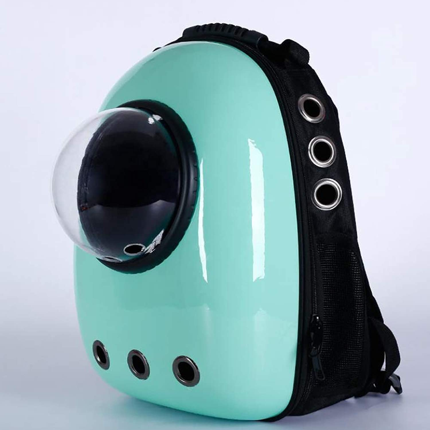 Breathable Pet Travel Backpack Space Capsule Carrier Bag Hiking Bubble Backpack Cat & Dog Puppy,Green