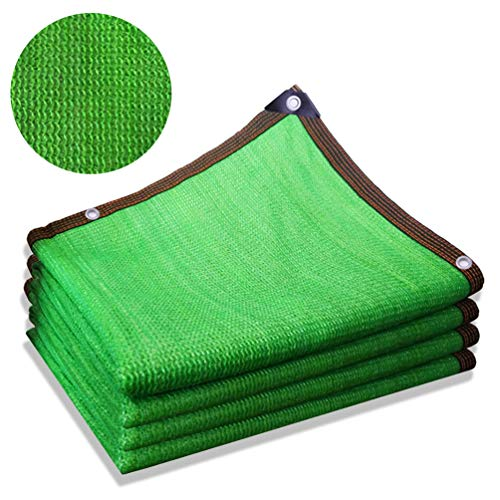 Qwhone Shade Fabric Sun Shade Cloth, Shade Panel Taped Edge with Grommets Ropes Sun-Block Mesh Shade for Pergola Cover Canopy for Plant Flower, Pet Kennels Outdoor Car,5m x 6m / 16ft x 20ft