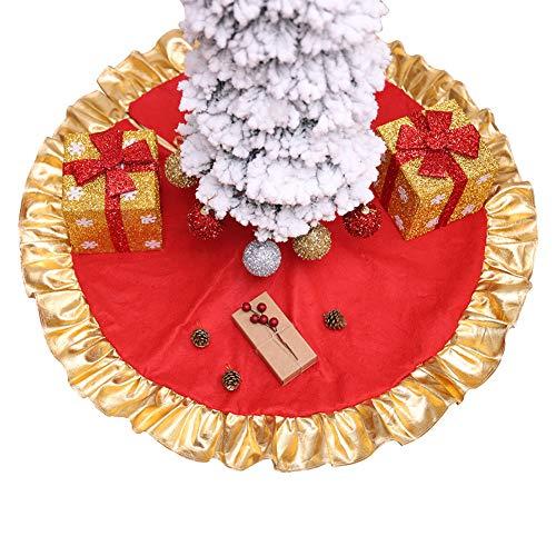 Cleave Wave Rock, kerstboom, groot, 90 cm, linnen, jutebomen, kerstboom, rok, mat, met goudkleurige rand, voor feestjes, Kerstmis, vakantie
