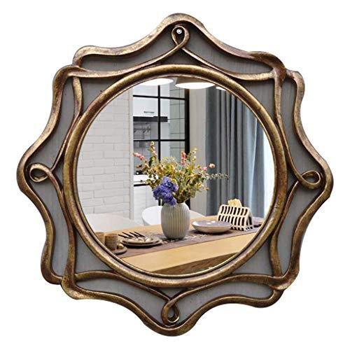 90x60 cm Rococo by Casa Chic Specchio Grande Stile Vintage Francese Specchio da Parete Grigio e Argento Antico