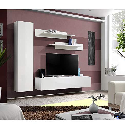 Banc TV- 5 éléments - Blanc