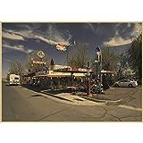 CINRYTN Leinwand Poster Tankstelle Auf Der Route 66 Usa