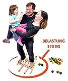 Trihorse Kugelbahn MAXI ab 1 Jahr mit 6 Figuren, sehr stabiles Premium Holzspielzeug made in EU - 2