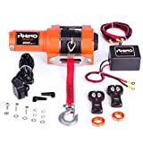 Rhino - Electric Winch 1360 Kg - Wireless Remote Control 12V - Dyneema Cable Harder Than Steel