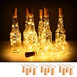 12 Pack Wine Bottle Lights with Cork, 2M 20 LED Battery Operated Copper Wire Fairy String...