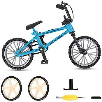 koea BMX Finger Bike Series 12,Metal Finger Mountain Bike Toy Cool Boy Toy Creative Game Toy Set for Flick Tricks Flares Grinds and Finger Bike Games  Blue