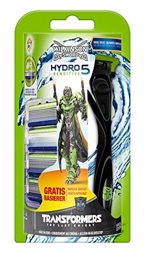 Wilkinson Sword Hydro 5 Sensitive voordeelverpakking Transformers Edition met 4 messen + scheerapparaat gratis