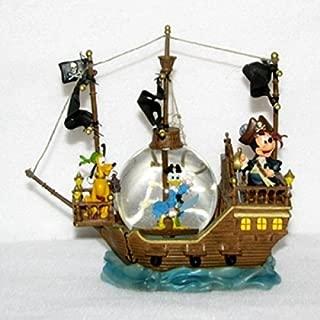 Black Pearl Pirate Ship - Mickey, Donald & Pluto Snow Globe