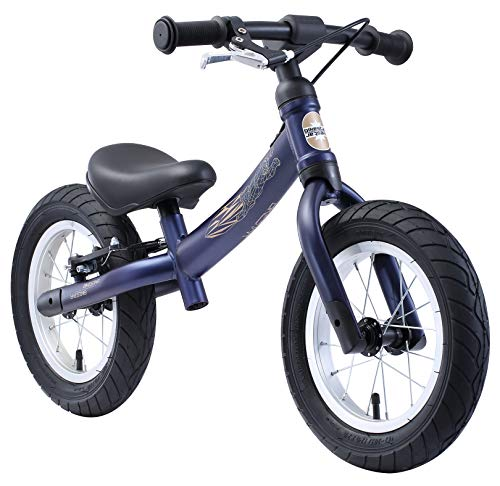 BIKESTAR Mitwachsendes Kinder Laufrad Lauflernrad Kinderrad für Jungen und Mädchen ab 3 - 4 Jahre   12 Zoll Flex Sport Kinderlaufrad   Dunkelblau   Risikofrei Testen