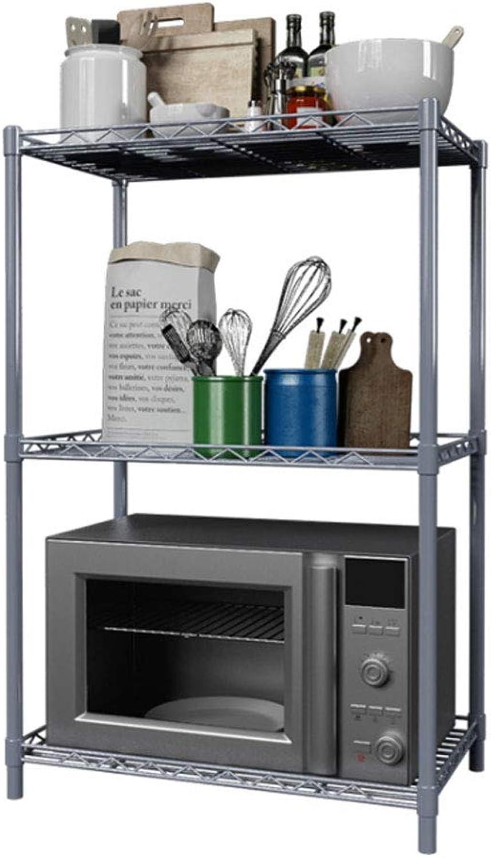 greenical Shelf Floor Stand Kitchen Bathroom Shelf Bathroom Bedroom Adjustable Storage Storage Microwave Shelf Multifunction (Size   56  35  80cm)