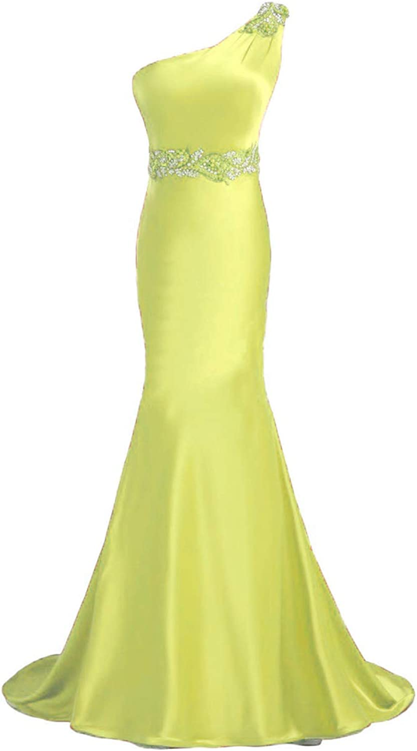 Beilite Women's One Shoulder Mermaid Long Evening Gown Party Dresses