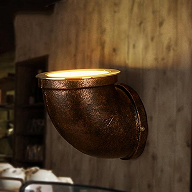 GYP Loft Kreative Wasserpfeifen Wandleuchte Retro Gang Treppen Korridor Nostalgische Lampen Und Laternen Restaurant Bar Single Head LED Scheinwerfer 10  12CM, 14  17CM ( gre    1(1012CM) )