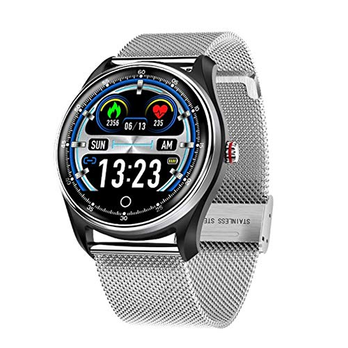 ZGNB Reloj Inteligente N58 ECG PPG para Hombres Y Mujeres, con Exhibición ECG ECG, ECG Monitor De Ritmo Cardíaco Sports Watch Smart Watch, Adecuado para Android iOS,B