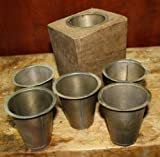 JumpingLight 7 Replacement Sugar Mold Candle Holder Primitive TIN Cup Votives Candles Cast Iron Decor for Vintage Industrial Home Accessory Decorative Gift