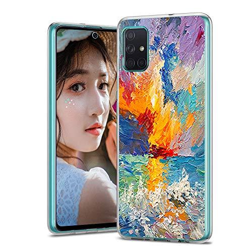 Handyhülle für Samsung Galaxy A71 Hülle Case Silikon Original Marmor Transparent Galaxy A71 5G hülle Dünn Slim Schutzhülle Smartphone Zubehör für Samsung A71 Clear Schutz Tasche-14