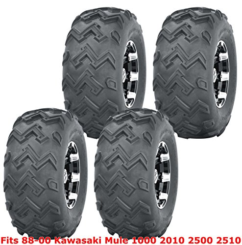 Full Set WANDA ATV Tires 22x11-10 for 1988-2000 Kawasaki Mule 1000 2010 2500 2510 4PR
