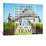 Kreative Arts Canvas Quotes Office Inspirational Sayings Words Wall Decor Teamwork Definition Motivational Quotes Ants Constructing Bridge Poster Prints Ready to Hang 24x32inch