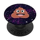 Kothäufchen Smiley Emoji Weltraum PopSockets PopGrip: Ausziehbarer Sockel und Griff für Handys/Tablets mit Tauschbarem Top