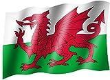 Flagge/Fahne WALES Staatsflagge/Landesflagge/Hissflagge mit Ösen 150x90 cm, sehr gute Qualität