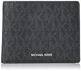 Michael Kors Men's Jet Set Slim Bifold 6 Pocket Wallet Black