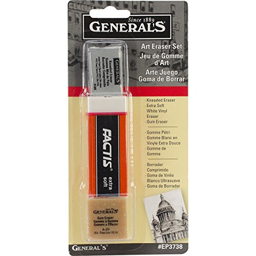 General Pencil Company Eraser Set 3-Pack