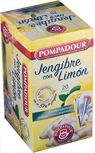 Pompadour Tee Infusion Ingwer mit Zitrone 20 Beutel - Packung mit 2 (insgesamt 40 Beutel)
