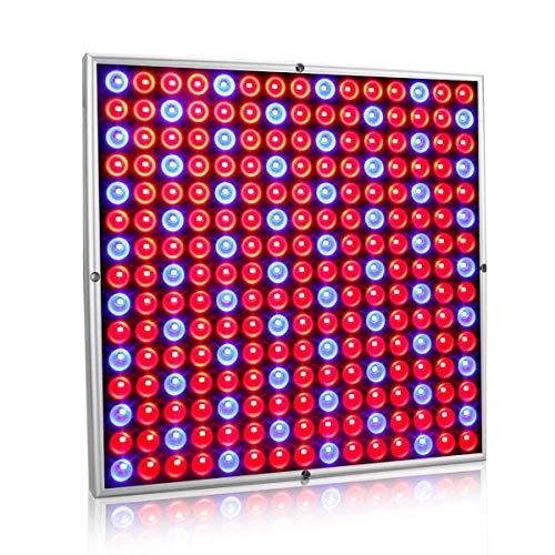 Exmate 45W 225 LED Grow Light Planta de cultivo de lámparas Panel con reflector rojo y azul Bombillas para invernadero interior Suculentas Plantones Floración Veg Bloom Hydroponic Garden Sliver