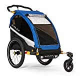 Burley DLite Single Remolque de Bicicleta para niños, Unisex Adulto, Old School Azul,