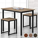 HOMURY 3 Piece Dining Set Small Dining Table Set for 2 Kitchen Breakfast Table...