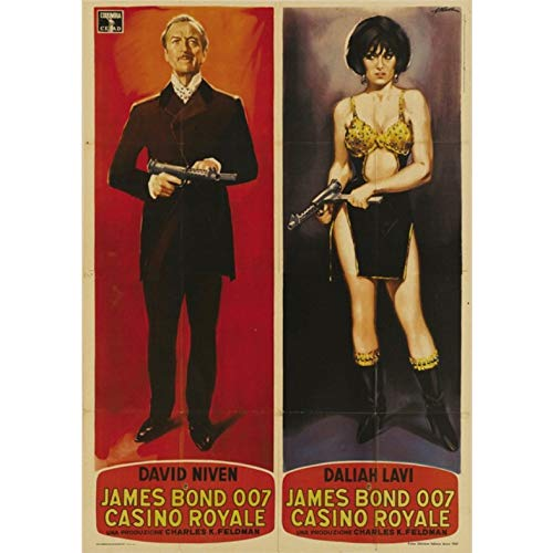 manyaxiaopu James Bond 007 Series Pierce Brosnan Film Classici Arredamento per La Casa Decorazione Carta Kraft Poster Pittura Decorativa A20 40X60Cm