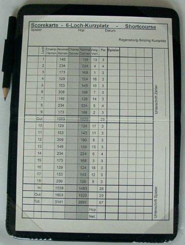 Scorekartenhalter in edlem schwarz