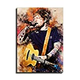 Ed Sheeran Aquarell-Kunst, dekoratives Gemälde, Poster,