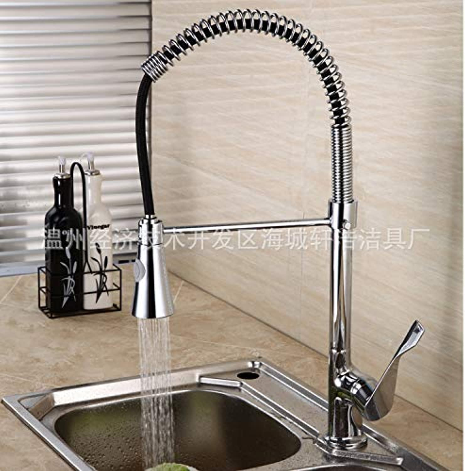 redOOY Taps Faucet Dish Basin Sink Faucet Kitchen Pull Double Outlet Sink