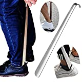 Metal Shoe Horn,Extral Long handled Shoehorn,17' Heavy Duty...