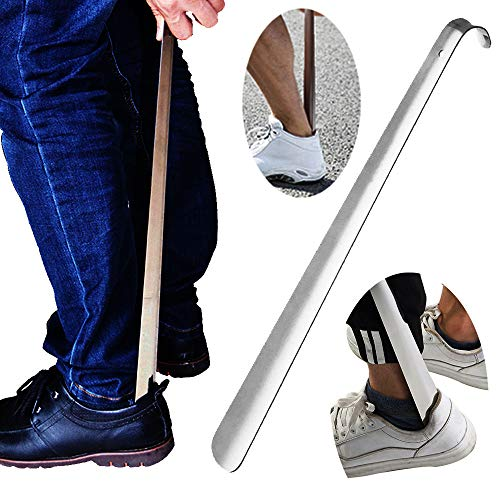 Metal Shoe Horn,Extral Long handled Shoehorn,17' Heavy Duty Stainless Steel Shoes Horn for Women,Men,Kids,Seniors,Elderly,Disabled,Pregnancy,Boots,Dress,Runing,Shoes,Sneakers …