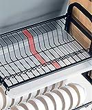 EOVL Abtropfgestell 2and 3 Etagen Abtropfgitter Geschirrständer Geschirrabtropfer mit Besteckhalter und Auffangschale/D - 3