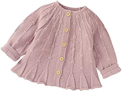 Infant Toddler Baby Girls Cardigan Sweater Long Sleeve Button Down Knitted Outwear Fall Winter product image