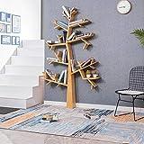 EIVD Bibliothèque en Forme d'arbre Au Sol Cadre en Bois Massif décoratif Salon Cafétéria...