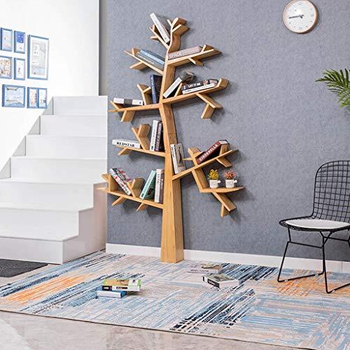 EIVD Estantería en Forma de árbol Estante de Madera Maciza de pie Marco Decorativo Salón Cafe Estantes para Libros Fondo Multifuncional Estantes flotantes (Tamaño : 110x16x160cm)