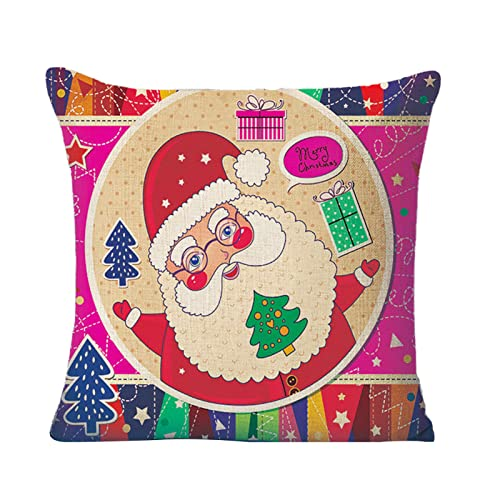 blueship Funda de cojín para decoración de Navidad, cómoda para uso doméstico C