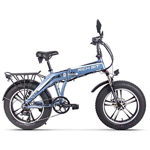TOP016 Bicicleta eléctrica Plegable 4.0 Fate 20 Pulgadas MTB Freno de Disco para batería de Litio para Adultos de 48 V, Shimano City Bike 7 velocidades 40 km/h 500 W Motor (en Europa)