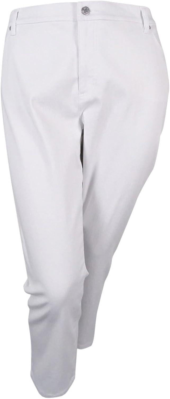 Lauren Ralph Lauren Women's Straight Cropped Jeans (22W, White)