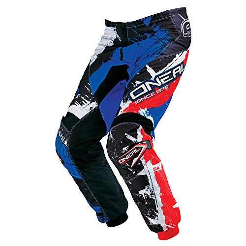 O'NEAL Element Youth MX DH Kinder MTB Pant Hose lang Shocker schwarz/blau/rot 2018: Größe: 28 (152-178)