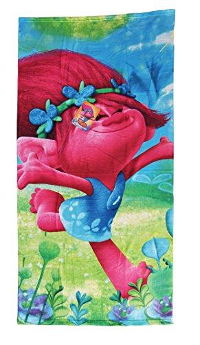 Halantex Sp Toalla Playa Trolls 2, 100% Poliester Microfibra, Color Uníco, 70 x 140 cm
