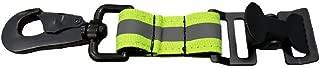 LINE2design Glove Strap - Firefighter Work Glove Holder - Emergency Firefighting Rescue Turnout Gear Reflective Nylon Webbing Gloves Safety Leash with Heavy Duty Alligator Clip - Green