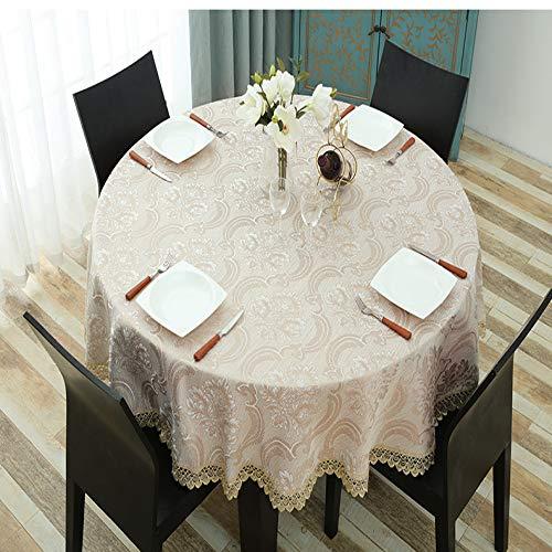 ShiyueNB Rond tafelkleed kant doorbroken Europese stof rond tafelkleed katoen en linnen ronde tafel restaurant tafelkleed 120cm runde Tischdec Tiffany Coffee